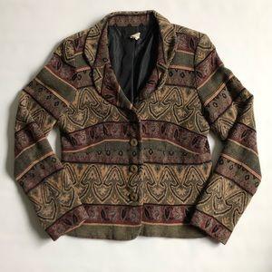 Vintage tapestry style blazer